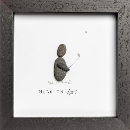 Golf Pebble Art Frame
