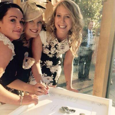 Wedding Guests signing Wedding Frame
