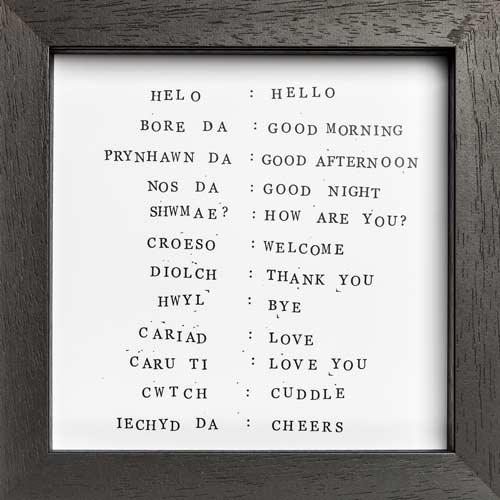 English - Welsh Translations Welsh Print