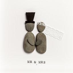 Wedding Gift - Pebble Art Frames