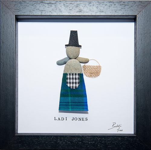 Welsh Lady in Jones Tartan